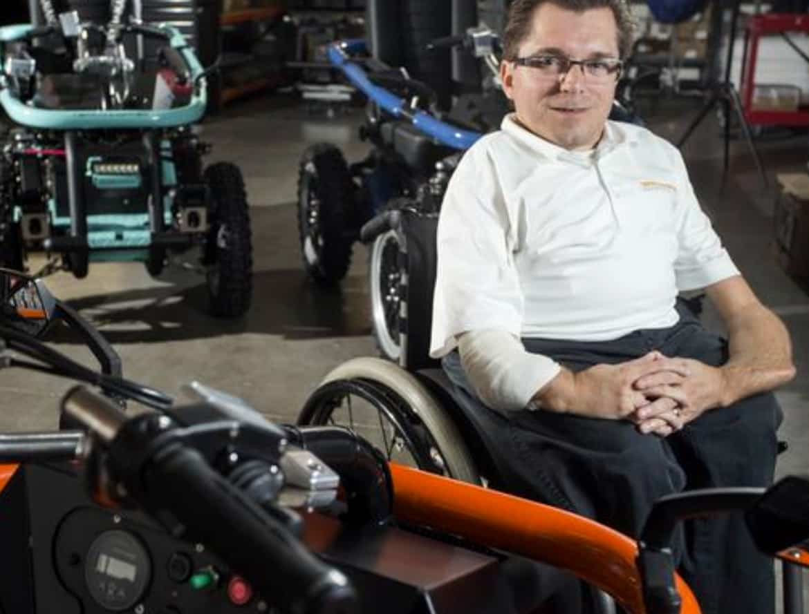 tempe mobility manufacturer changes lives - Entrepreneur: Tempe mobility vehicle manufacturer wants to change lives