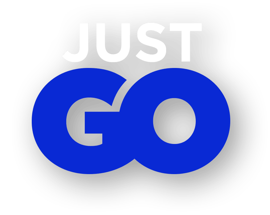 Tagline: Just Go (Electric Blue)