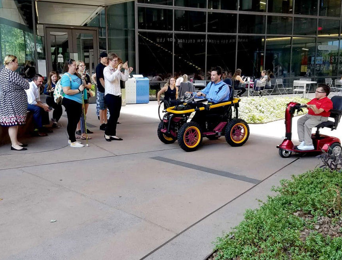asu blog - ASU is the first university in the nation to use all-terrain wheelchair