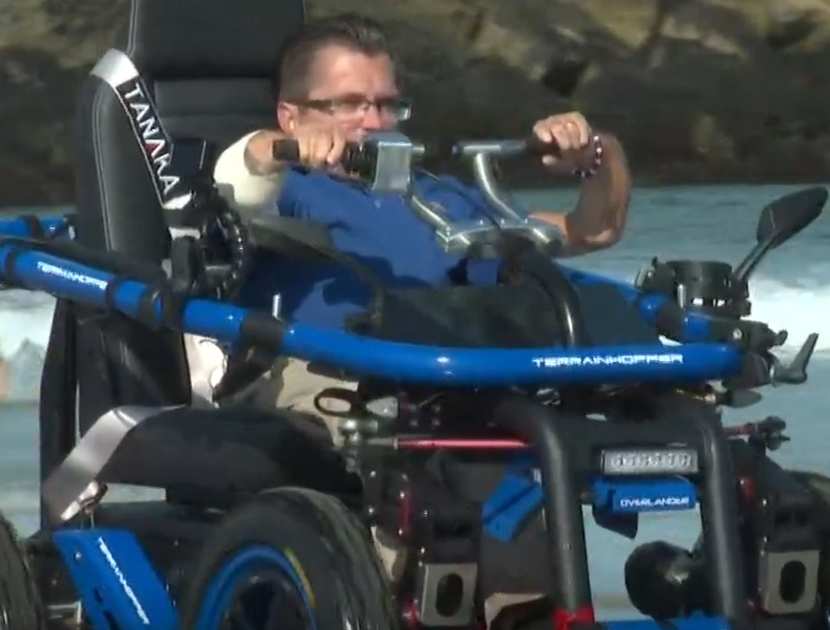 nbc blog - Terrain Hopper takes those with mobility issues to the beach