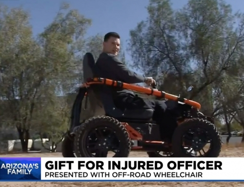 Paralyzed Peoria police officer given off-road wheelchair