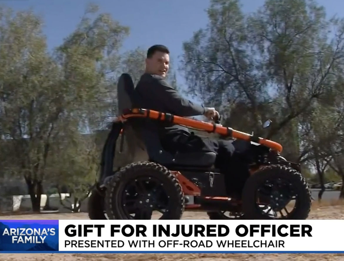 azfamily blog - Paralyzed Peoria police officer given off-road wheelchair
